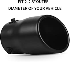 2.0''-2.5'' Inlet Exhaust Tips, OsoTorero Universal Black Exhaust Tip Stainless Steel Bolt On Tailpipe Tips Adjustable 2-2.5