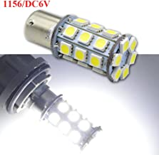 Ruiandsion 2pcs 1156 BA15S LED Light Bulbs Super Bright 5050 Chips 27SMD DC 6V LED Bulb for Reverse Turn signal Light,White