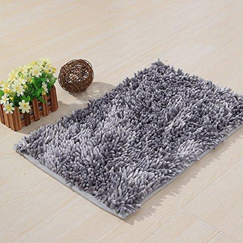 Chenille canapé-lit tapis de sol de chenille à quatre saisons A+ ( Couleur : Gris argent , taille : 70*140cm )