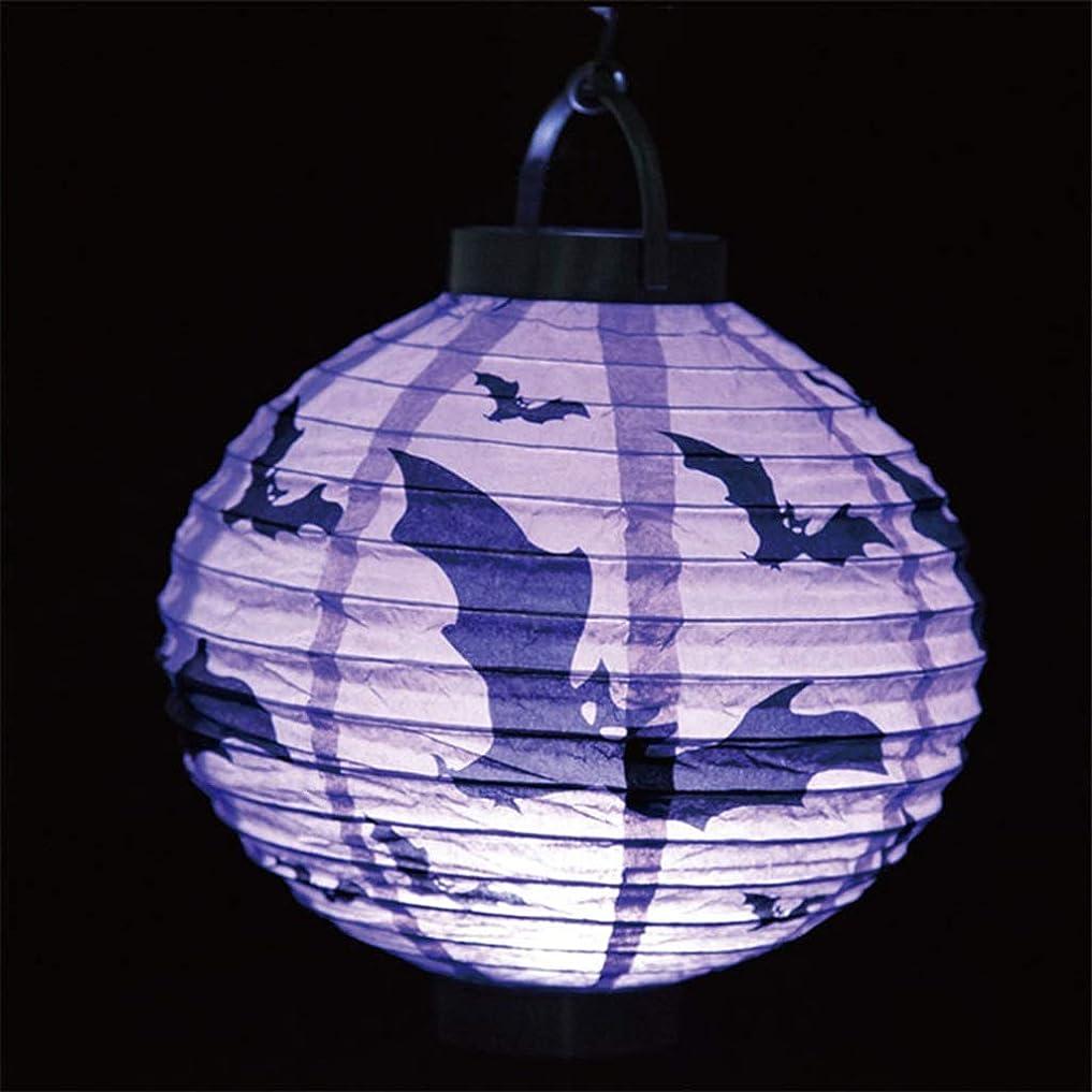 天国見捨てる花束LAOHAO ハロウィンパーティーの装飾高品質LED提灯カボチャクモバット吊りランプ ワンタイムデコレーション (Emitting Color : Purple)