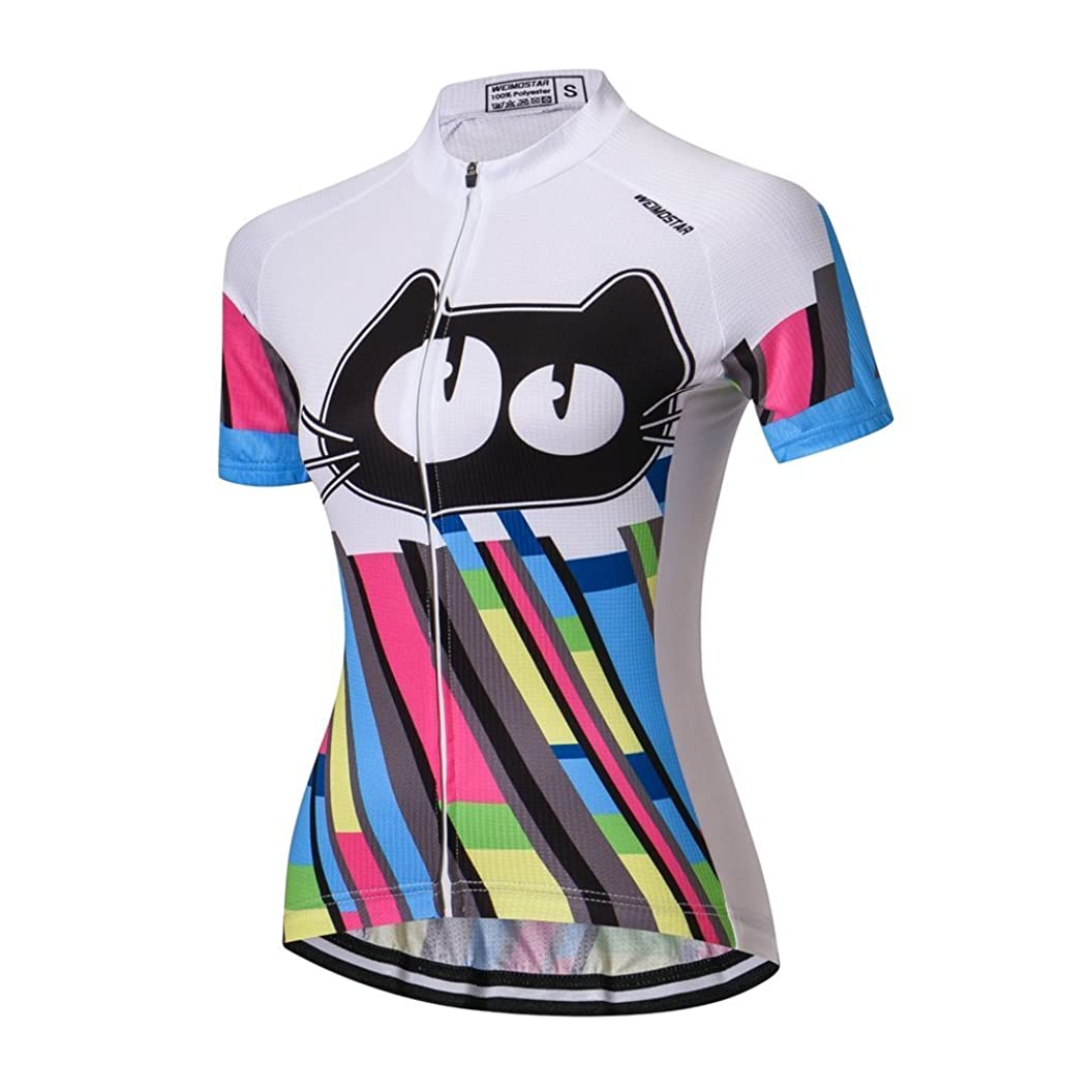 Women Cycling Jersey Short Sleeve Bike Bicycle Clothing Shirt tufcsibtjmm83