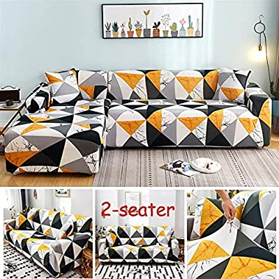 WBFN 1/2/3/4 Breathable Sofa Cover, Slipcover,Corner Sofa Covers for Living Room Slipcovers Elastic Stretch Sectional Sofa Cubre Sofa,L Shape Need to Buy 2 Pieces
