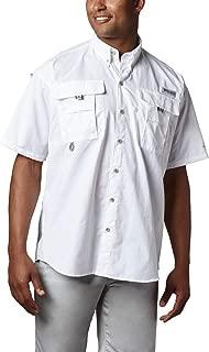 Men's PFG Bahama II Short Sleeve Shirt, White, Large