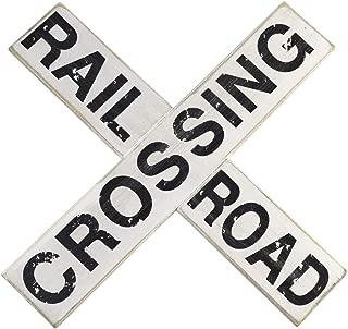 TG,LLC Vintage Railroad RR Crossing Sign Crossbuck Garage Wall Decor
