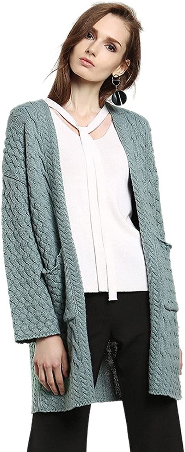 Insun Women's Winter Loose Long Knit Coat with Pockets Cardigan Sweater
