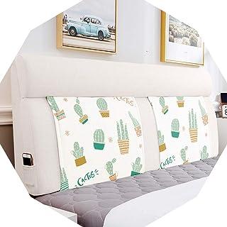 Barture Oreillers de lecture pour lit double avec tête de lit, coussins multifonctionnels respirants, coton et lin, 5 coul...