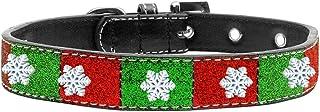 Mirage Pet Products 639-09 18 SnowFlake Widget Christmas Ice Cream Collar, Size 18