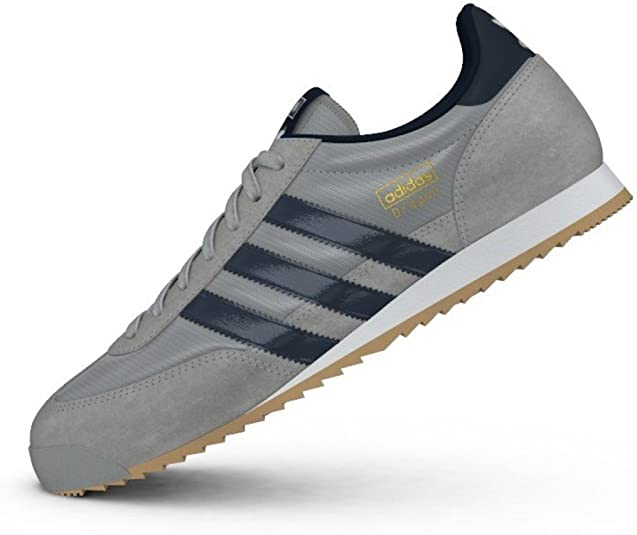 Adidas Originals Dragon, Chaussures de Sport Homme, Gris / Bleu ...