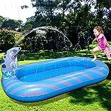 Alfombrilla de aspersión,Splash Pad,aspersor inflable para piscina,juguetes acuáticos para niños,fiesta familiar al aire libre,jardín de verano,alfombrilla inflable para chapotear con espray-170CM