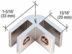 CRL Chrome Anodized Aluminum 2-Way 90176; Connectors for 1/4