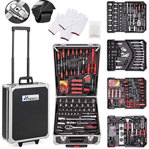 TRESKO® Valigia degli attrezzi composta da 949 pezzi | cassetta degli attrezzi | portaattrezzi | set di arnesi | trolley degli attrezzi | acciaio cromo-vanadio