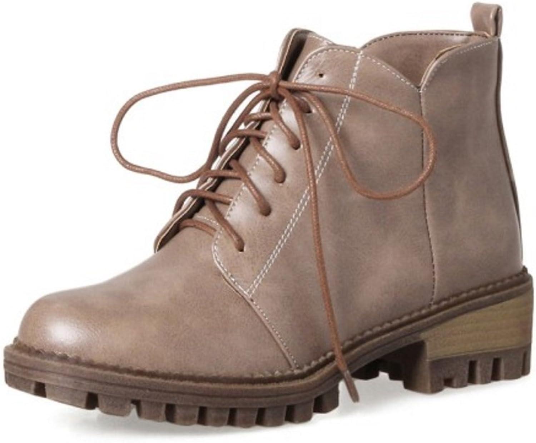KemeKiss Women Low Heel Ankle Boots