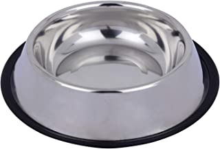 Naaz Pet Supplies Stainless Steel Dog Bowl Bowl for Feeding Dogs Cats Water Bowl for Dog Lover 1500Ml Extra Large