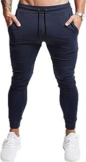 [Manatsulife] メンズ ジョガーパンツ 無地 スリム スウェットパンツ トレーニング フィットネス ジム K-02