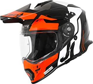Just1 J34 Pro Tour Motocross Helm Schwarz/Orange XL 61/62