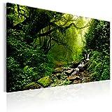 murando - Bilder 120x80 cm Vlies Leinwandbild 1 TLG Kunstdruck modern Wandbilder XXL Wanddekoration Design Wand Bild - Wald Natur Bach c-B-0234-b-c