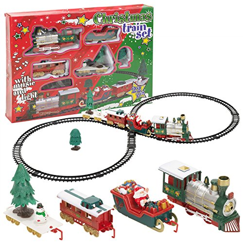 Christmas Musical Train & Track Toys Set...