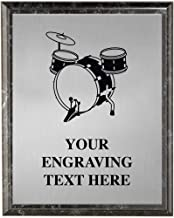 Crown Awards Drummer Plaques, Personalized Drums Trophy Plaque Award, Great Custom Engraved Drummer Music Gifts Prime