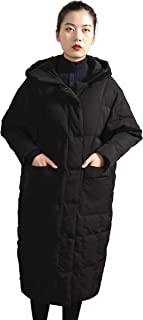 Distance Color Women's Thickened Long Down Coat
