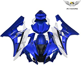 NT FAIRING Blue White Injection Mold Fairing Fit for Yamaha 2006 2007 YZF R6 New Painted Kit ABS Plastic Motorcycle Bodywo...