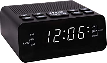SUCHMIX Alarm Clock Radio, FM/AM Digital Alarm Clock for Bedrooms LED Display Radio Alarm Clock with Sleep Timer, Dimmer, Snooze