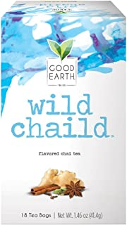 Good Earth Chai Tea, Wild Chaild, 18 Count Tea Bags (Pack of 6) (Packaging May Vary)