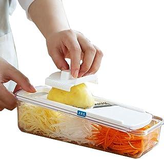 Trancheuse Mandoline coupe-légumes Veggie Dicer Cuisine 4 En 1 Multifonctions Shredder Est Déchiquetée Maison Slicer Grate...