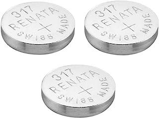 Renata 317 Pile pour Montre Fabriquée En Suisse Argent Oxyde 1.5 v(SR516SW (lot de 3)