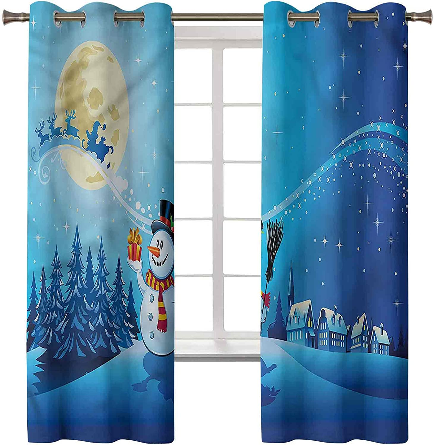 Christmas Curtains for Bedroom Set of 2 Direct store x Panels 84 trend rank Inch 42 Far