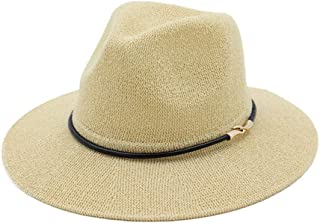 Hats Breathable Cool Straw Hat Light and Comfortable Women's Hat Fashion (Color : Beige)