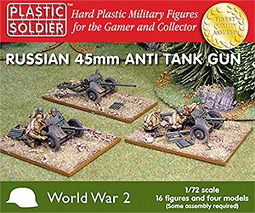 Plastic Soldier 1/72 WWII Russian 45mm Anti Tank Guns