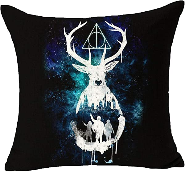 Cayyon Originality Decorative Pillow Case Throw Pillow Cover Pillowcase Cotton Linen Cushion Covers For Home Car Bar Restaurant Harry Potter Style 2 05 B