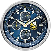 Citizen Gallery Indoor/Outdoor Blue Angels Silver-Tone and Blue Wall Clock