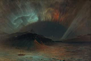 Frederic Edwin Church Giclee Canvas Print Paintings Poster Reproduction(Aurora Borealis)