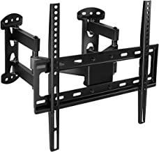 Corner TV Wall Mount - Full Motion Swivel Wall Mount Bracket Designed for Corner Installations, VESA 400x400 Pattern Fits 32, 37, 40, 42, 50, 55 Inch Televisions, 66 Lbs Capacity, MI-4481