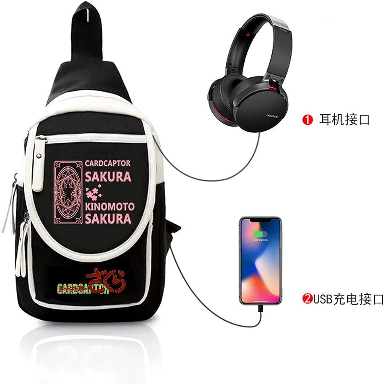 Brusttasche Sling Rucksack Schultertasche Brusttaschen Brusttaschen Brusttaschen für Damen und Herren Anime Daypack Sporttasche B07PGF1BFY  Trendy c16d68