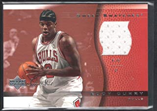BIGBOYD SPORTS CARDS Eddy Curry 2002/03 UD Sweet Shot #ECSS Game Jersey Chicago Bulls SP