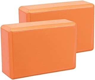 2 Pcs Yoga Block Brick Foaming Foam Home Exercise Fitness Gym Sport Tool 225x 145x76 mm