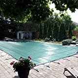 Happybuy Pool Safety Cover 20x30 ft, Inground Pool Cover PP Material, Rectangle Inground Safety Pool Cover Green, Mesh Solid Pool Safety Cover for Swimming Pool Winter Safety Cover