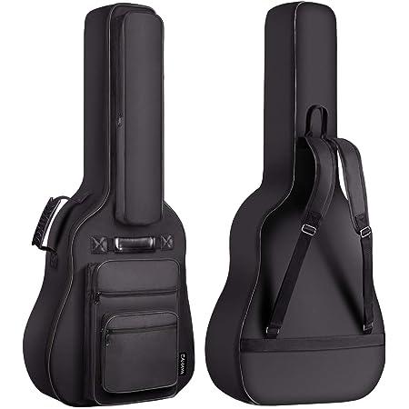 CAHAYA 40 41 42 Inch Multi-pockets Acoustic Guitar Bag 6 Pockets 0.3 Inch Thick Padding Waterproof Guitar Case Gig Bag