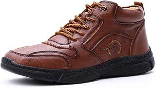 gracosy män höga stövlar vinter utomhus läder ankelstövlar päls fodrad varm vandring vandring sneakers stövlar bekväma var...