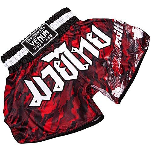 Venum Tecmo Muay Thai Shorts - Red-White - Large