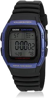Reloj digital Casio W-96H-2AVDF, con luz, correa de plá