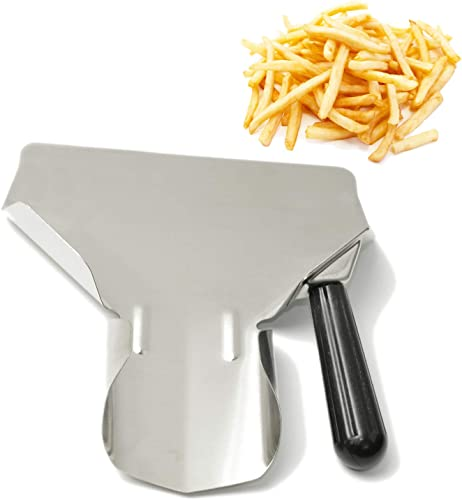 discount MGGi Stainless Steel French Fry Bagger Scoop Chip Popcorn wholesale Bagger Ice outlet online sale Candy Snacks Desserts Scooper, Right Handle outlet sale