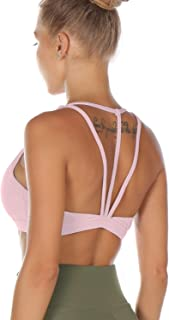 Melpoint Sports Bras for Women - Strappy Workout Fitness Yoga Running Bra - Athletic Activewear Tops