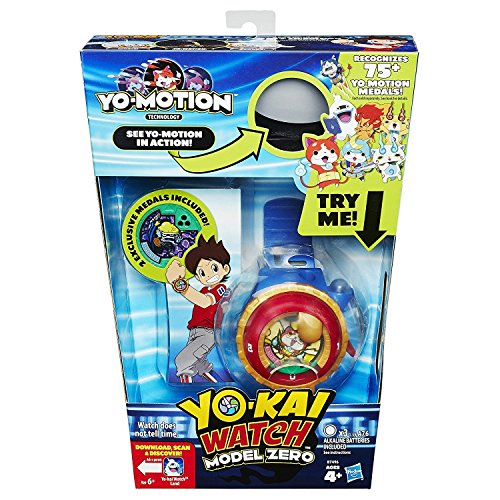 Yo-Kai B7496 - Reloj Modelo Zero - 2 medallas exclusivas Incluidas - Yo-Motion Technology Roleplay Scan Toy