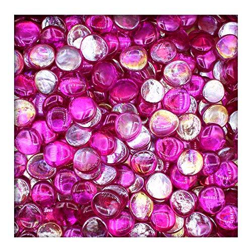 Kieskönig 1 kg gefärbte Glasnuggets Glassteine Muggelsteine Mosaiksteine 25-32 mm Pink