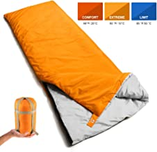 Bessport Lightweight Sleeping Bag, 800g Camping Sleeping Bag for 3 Season with Compression Sack Fits Kid/Adults Traveling, Backpacking, Hiking, Outdoor Activities