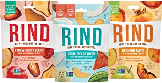 RIND Snacks Dried Fruit Superfood Variety Pack with Straw-Peary, Coco-Melon, Orchard Blend, High Fiber, Vegan, Paleo, Whol...