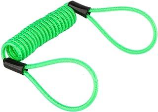 Keenso 1.2m Motorrad Grün Disc Sperre Alarm Lock Sicherheit Frühling Reminder Kabel für Roller Motorrad Bike Bremsscheibe Lock Reminder Kabel Diebstahlschutz am Lenker